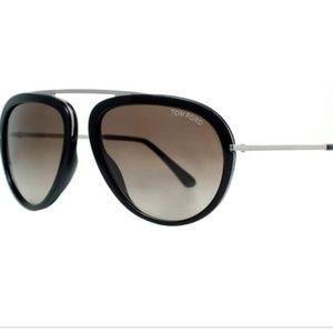 Tom Ford Stacy Sunglasses Silver Black tf452 (gr1)